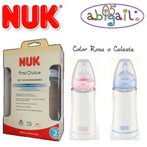 Nuk Kit 2 Mamaderas First Choise 300ml C/tetina Ortodontica