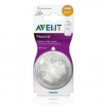 Avent Tetinas Natural Blister X2 Unidades +6 Mes Trotyl Kids