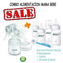 Sacaleche Manual Natural Avent 330/19+accesorios+set Avent.