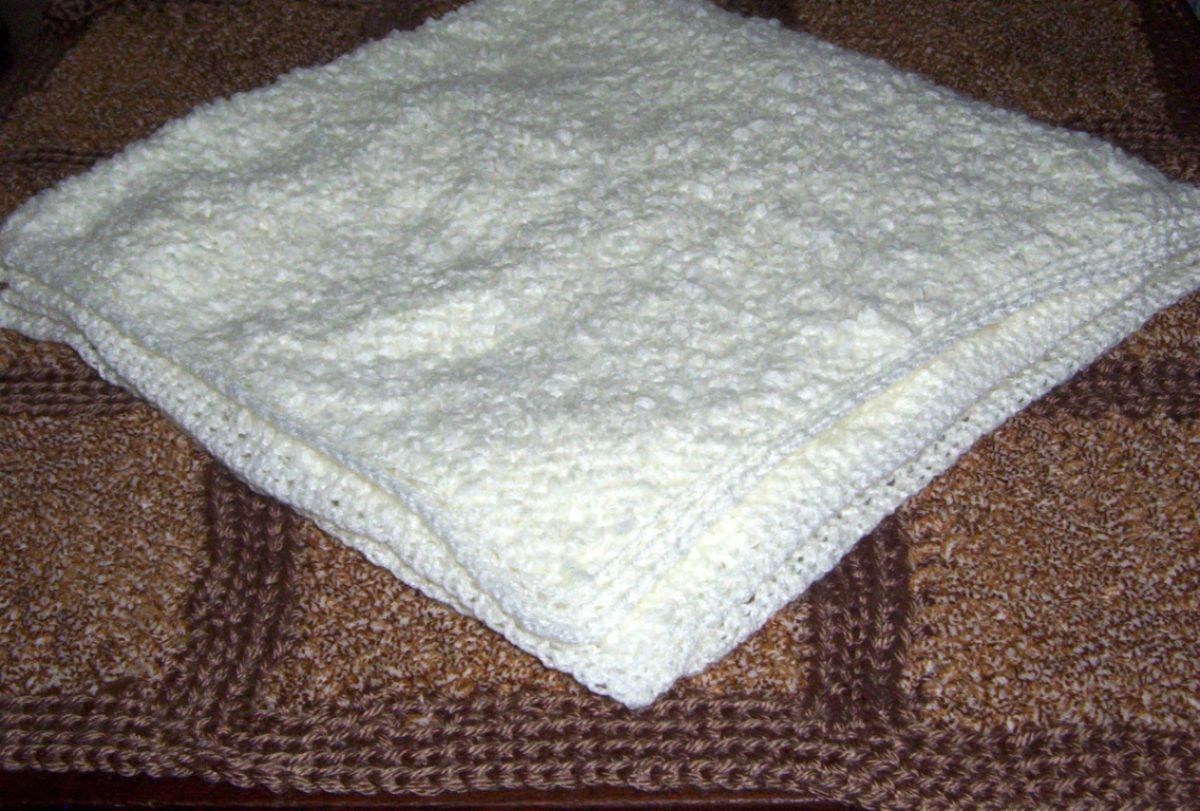 Manta Pañoleta Para Bebé En Telar Manual, Borde Crochet.. - $ 280 ...