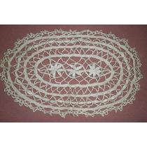 Antigua Carpeta En Macramé