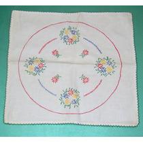 Antigua Carpeta Mantelito Bordado A Mano 35 X 37 Cm Olivos
