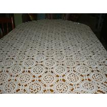 Antiguo Mantel Tejido A Mano En Crochet