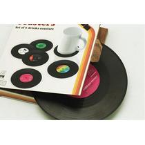 Posa Vasos Tazas Copas Vinilo Disco Retro Vintage X 6 Regalo