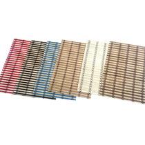 Set De Indivinduales De Bambu En Varios Colores X 6 Unidades