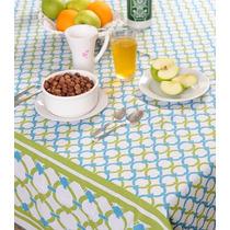 Mantel Estampado Diseño Algodon Antimancha 2mts