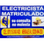 Electricista Matriculado A Zona Oeste Ya!!