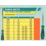 Destornillador Punta Recta Art3230 Power Celestal