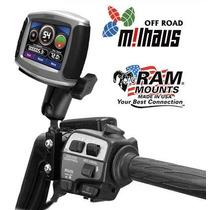Soporte Gps Ram P/ Moto & Garmin Nuvi En Freno Manillar Caño