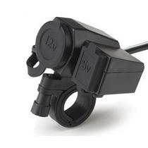 Adaptador Soporte Toma 12v+usb 5v P/moto Lancha Gps Celular