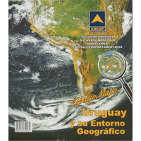 Mapa Ancap De Uruguay ,rutas Y Capitales Departamentales