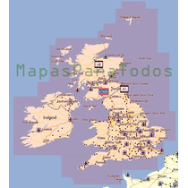 Mapas 2015 De Reino Unido + Irlanda Para Garmin