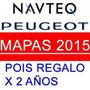 Actualización Gps Peugeot 308 408 / 2015 Pois Gratis 2 Años
