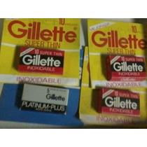 Hojas De Afeitar Gillette Roja -super Azul - Platinum