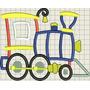 Diseños Matrices Para Máquina De Bordar Tren De Carga