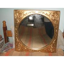 Hermoso Espejo De Madera Tallada Dorado A La Hoja