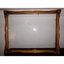 Antiguo Marco Francés Con Vidrio