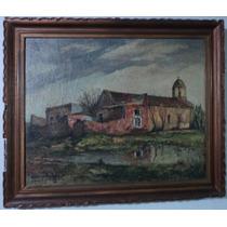Inmenso Cuadro Oleo Eduardo Luisi (premiado) 1943 Firmado