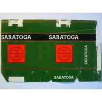 Marquilla Cigarrillos Saratoga Cortos