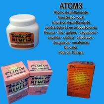 Atom3 Átomo Desinflamante Anestésico Local 185 Grms