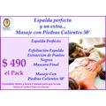 Tratamiento Espalda +.masaje Con Piedras Calientes 50