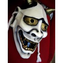 Mascara De Teatro Noh, Estilo Antigua, Hannya, Rigida, Japan