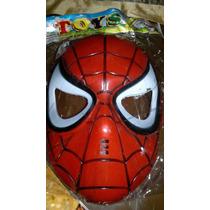 Mascara Del Hombre Araña De Plastico Duro
