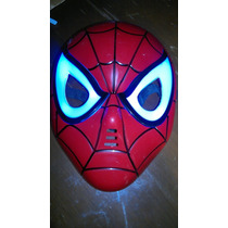 Mascara Del Hombre Araña Con Luz Led