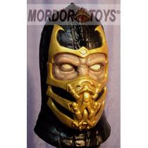 Scorpion Máscara De Látex Mortal Kombat Halloween Mordortoys