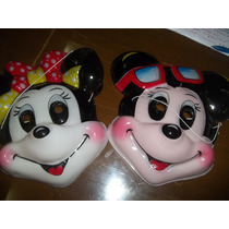 Mascara/careta Plastica De Cotillon De Mickey/minnie