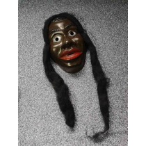 Mascara /careta Plástica Mulata Con Pelo