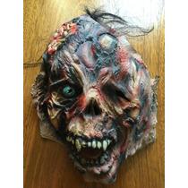 Disfraz Máscara Latex Zombie Quemado + Brazos Envío Gratis