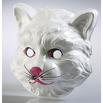 Careta Plástica De Gatota - Mascara Animales Disfraz Gato
