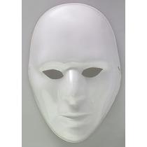 Mascara Plástica Blanca Neutra - Mimo Accesorio Disfraz