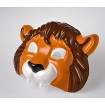 Careta Plástica De Leon - Mascara Animales Accesorio Disfraz