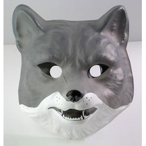 Careta Plástica Lobo - Mascara Animales Accesorio Disfraz