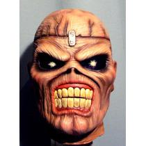 Iron Maiden Latex Mascara Para Disfraz De Eddie, Rock, Heavy