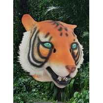 Mascara Latex Tigre Animal Importada Original Usa Disfraz