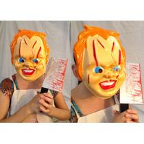 Mascara Chucky, Cotillon, Terror, Disfraz, Despedida Soltero