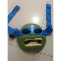Máscara Leonardo Ninja Turtles Playmates Como Nueva!!