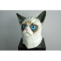 Mascara Latex Gato Loco Grumpy Cat Original Halloween