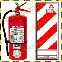Matafuegos Nuevo 5kg Abc C/tarjeta Soporte Chapa Envio S/c