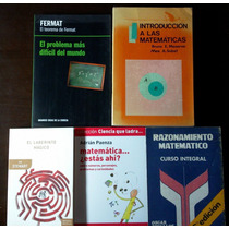 Matematica - Lote De 6 Libros - Paenza - Stewart - Fermat