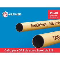 Caño Epoxi Para Gas 3/4 Pulg 6.40 Mts Tasagas