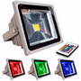 Reflector Led 20w Rgb C/ Remoto Exterior 16 Colores + Blanco