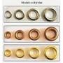 Ojalillos Metal Hierro Nº 1700 Color Niquel C/arand X 1000