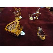 Adornos Enchapado En Oro Y Cristal