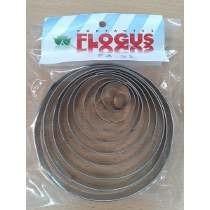Cortante Flogus Circulos X 10 U. Reposteria Porcelana Fria