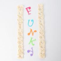 Letras Y Numeros Funky Reposteria Fondant Porcelana Fria