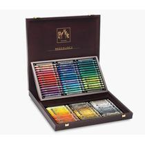 Set De Crayones Carandache En Caja De Madera X 84 (936)